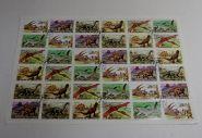 "Лист марок КНДР (36 марок) 1991 год. ""Динозавры"". Гашеный. AU"
