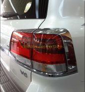Хромированные накладки на заднию оптику (Тип 1) для Toyota Land Cruiser 200 2015