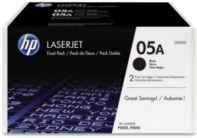 Kартридж оригинальный Hewlett-Packard HP 05A Black 2-pack LaserJet Toner Cartridge (CE505D)