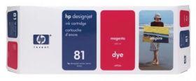 Картридж оригинальный Hewlett-Packard 81 красный C4932A