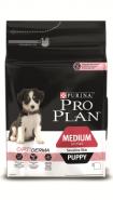 Pro Plan MEDIUM PUPPY SENSITIVE SKIN Корм для щенков средних пород с чувствительной кожей с лососем и рисом (12 кг)