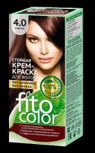 """Стойкая крем-краска для волос серии """"Fitocolor"""" тон каштан 115 мл"""