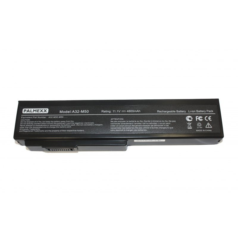 Аккумулятор PALMEXX A32-M50 для ноутбука Asus M50/M60/G50/G51/G60/VX5/L50/X55/N61/X64/X62 (11,1V-5200mAh)