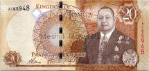 Банкнота Тонга 20 паанга 2015 год