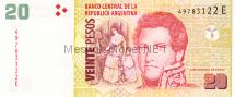 Банкнота Аргентина 20 песо 2003 год