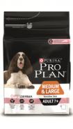Pro Plan MEDIUM & LARGE ADULT 7+ SENSITIVE SKIN Корм для собак средних и крупных пород старше 7 лет с чувствительной кожей с лососем и рисом (14 кг)