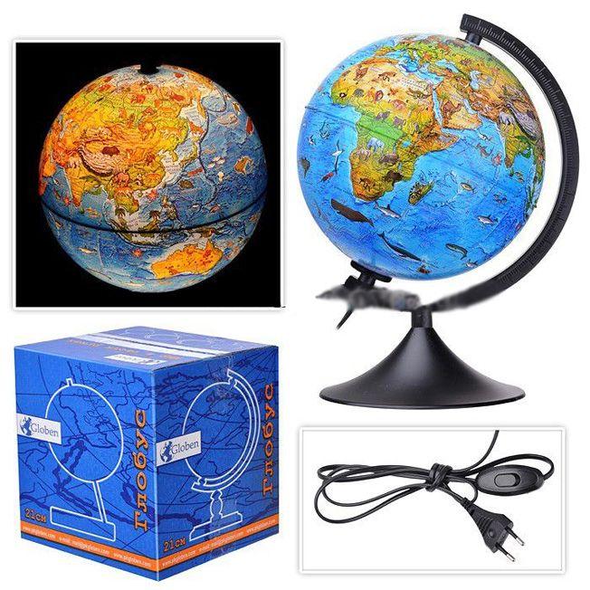 Глобус зоогеографический с подсветкой