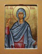 Икона Юлия Карфагенская (рукописная)