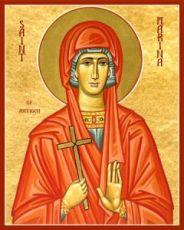 Икона Марина Антиохийская (рукописная)