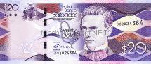 Банкнота Барбадос 20 долларов 2013 год