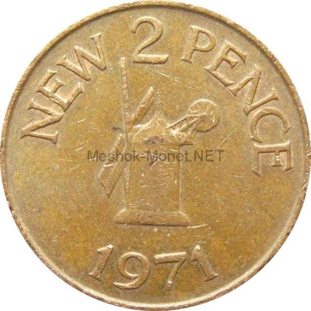 Остров Гернси 2 пенса 1971 г.