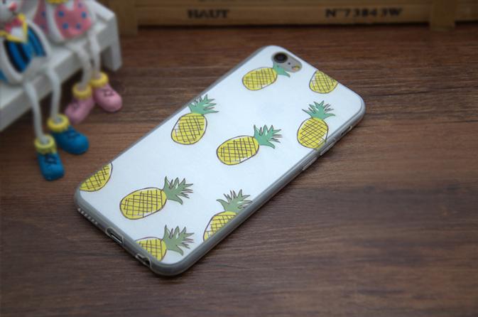 Силиконовый чехол для Iphone 6/6s с ананасом