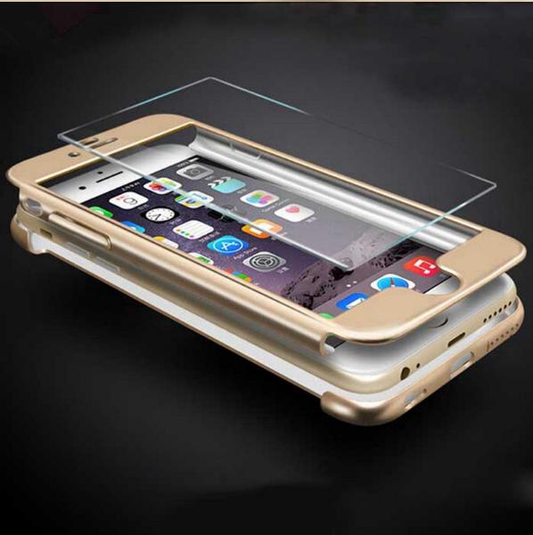 Чехол Paky 360 градусов защиты для iPhone 5/5s/se + (стекло на экран) :Золотой
