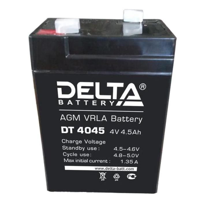 Аккумулятор свинцово-кислотный АКБ DELTA (Дельта) DT 4045 4 Вольт 4.5 Ач