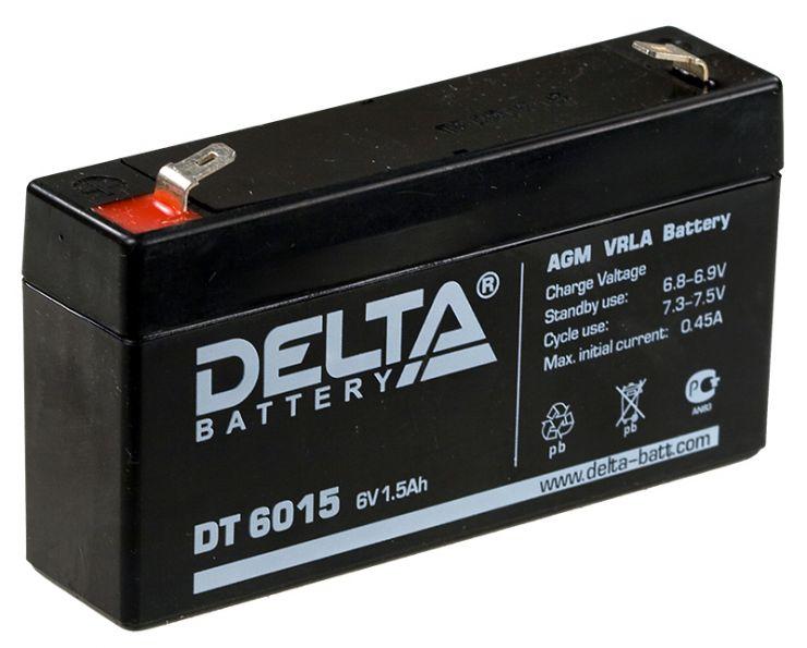 Аккумулятор свинцово-кислотный АКБ DELTA (Дельта) DT 6015 6 Вольт 1.5 Ач