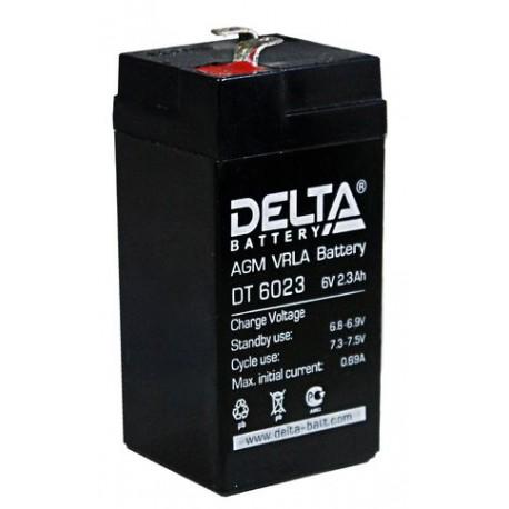 Аккумулятор свинцово-кислотный АКБ DELTA (Дельта) DT 6023 6 Вольт 2.3 Ач