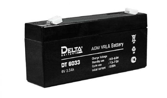 Аккумулятор свинцово-кислотный АКБ DELTA (Дельта) DT 6033 (125мм) 6 Вольт 3.3 Ач
