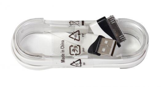 Шнур iPhone 4 - USB (лапша на пластиковой основе)