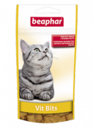 Beaphar Vit Bits Подушечки с мультивитаминной пастой для кошек (35 г)