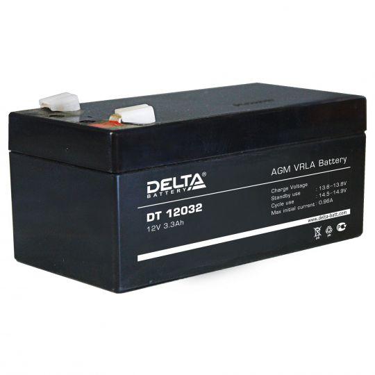 Аккумулятор свинцово-кислотный АКБ DELTA (Дельта) DT 12032 12 Вольт 3.3 Ач