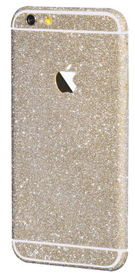 Наклейка-блестяшка для iPhone 6/6s золотой
