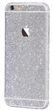 Наклейка-блестяшка для iPhone 6/6s серебряный