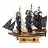 Корабль, L24 см дерево, текстильные материалы, металл, ПВХ (арт. 587172)