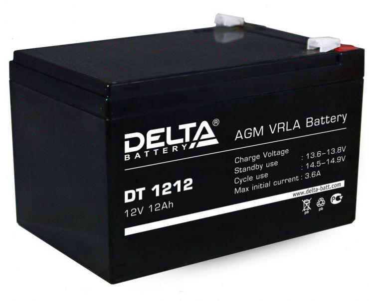 Аккумулятор свинцово-кислотный АКБ DELTA (Дельта) DT 1212 12 Вольт 12 Ач