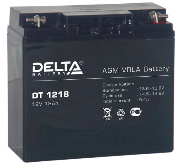 Аккумулятор свинцово-кислотный АКБ DELTA (Дельта) DT 1218 12 Вольт 18 Ач