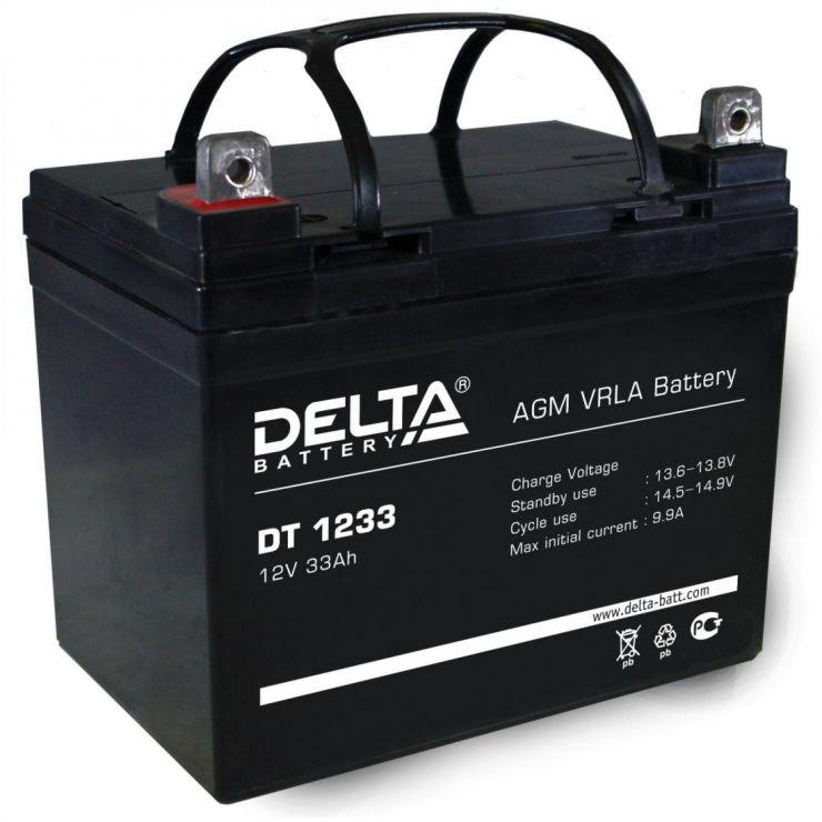 Аккумулятор свинцово-кислотный АКБ DELTA (Дельта) DT 1233 12 Вольт 33 Ач