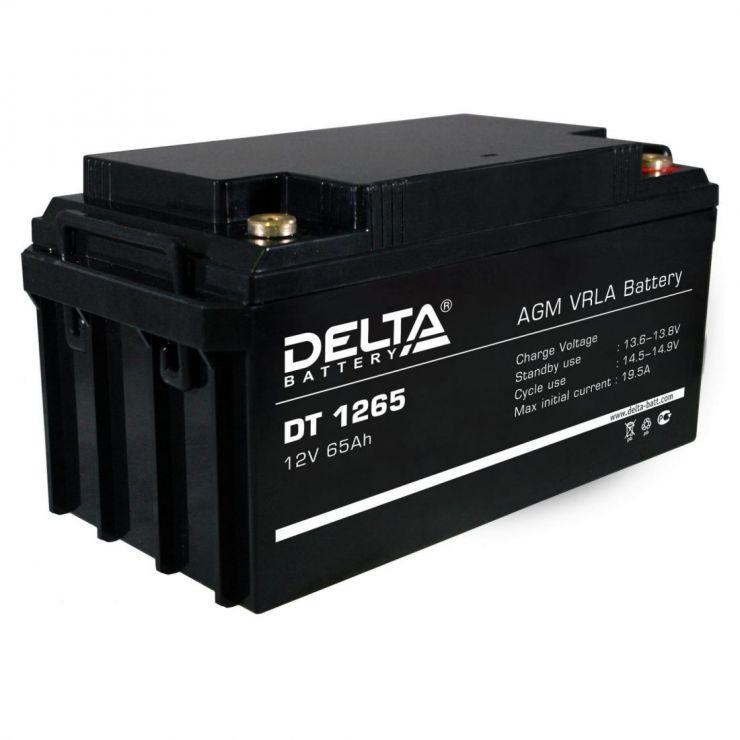 Аккумулятор свинцово-кислотный АКБ DELTA (Дельта) DT 1265 12 Вольт 65 Ач