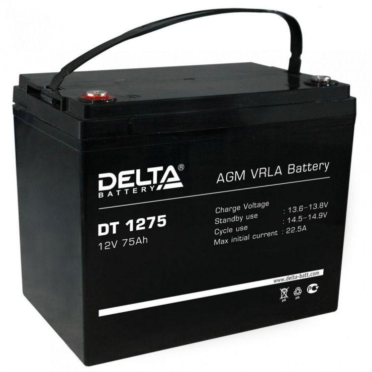 Аккумулятор свинцово-кислотный АКБ DELTA (Дельта) DT 1275 12 Вольт 75 Ач