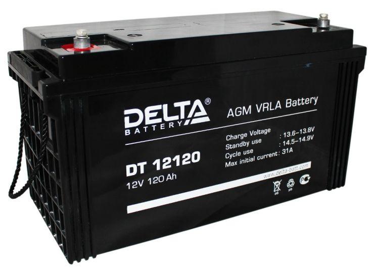 Аккумулятор свинцово-кислотный АКБ DELTA (Дельта) DT 12120 12 Вольт 120 Ач