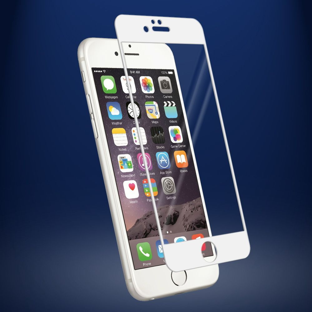 Защитное стекло  Tempered Glass 3D Full Screen  0.33mm для iPhone 6/6s (Цвет: Белый)