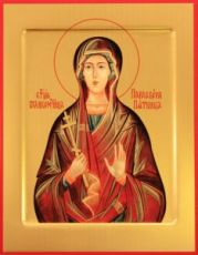 Параскева Пятница (рукописная икона)