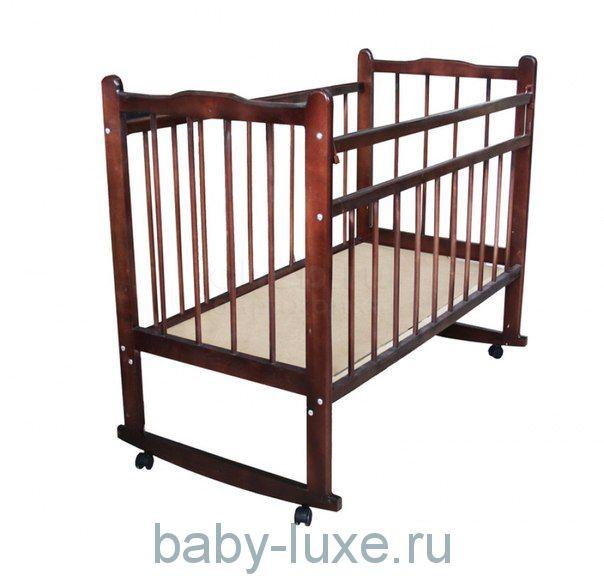 Кроватка детская Мишутка - 14 колесо/качалка/без ящика
