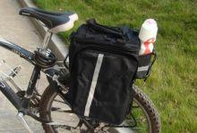 Велосумка на багажник туристическая Черная