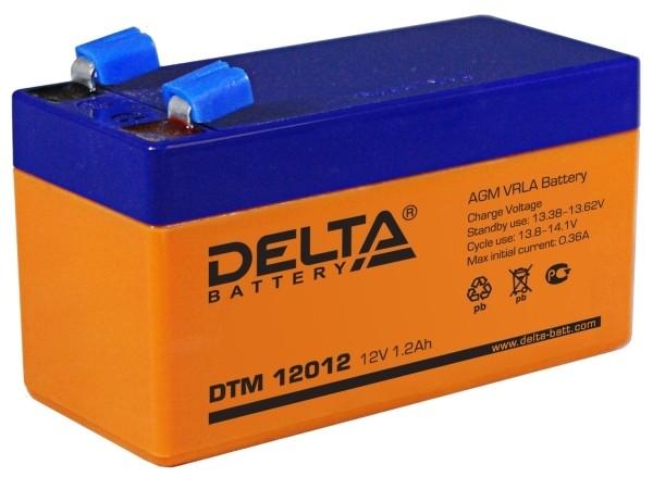 Аккумулятор свинцово-кислотный АКБ DELTA (Дельта) DTM 12012 12 Вольт 1.2 Ач