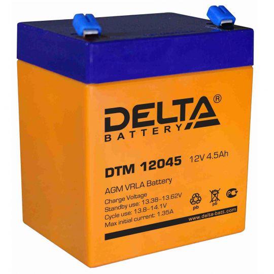 Аккумулятор свинцово-кислотный АКБ DELTA (Дельта) DTM 12045 12 Вольт 4.5 Ач