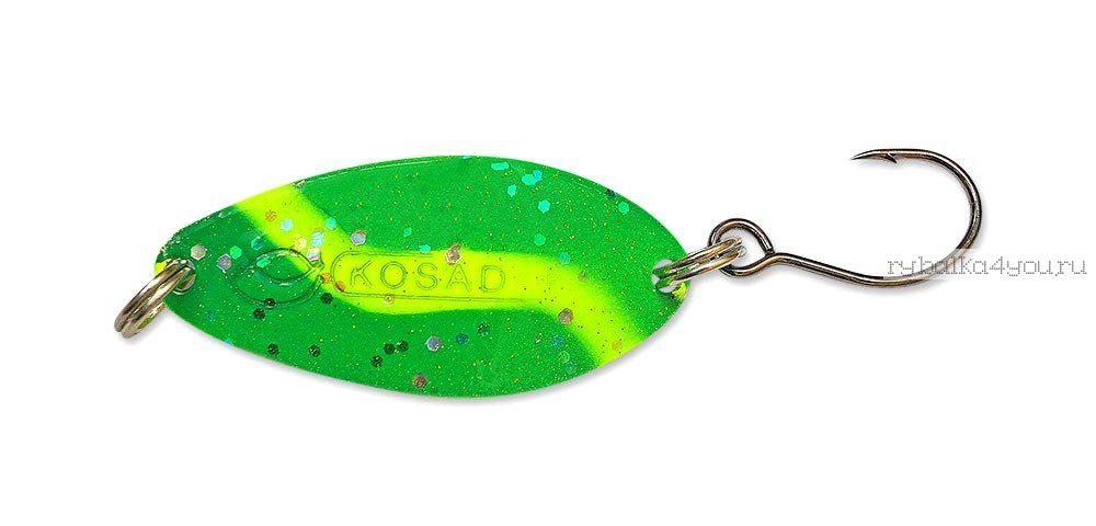 Купить Блесна Kosadaka Buggy (одинарный крючок) 50 мм / 11 гр цвет GO