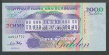 Банкнота Суринам 2 000 гульденов 1995 год