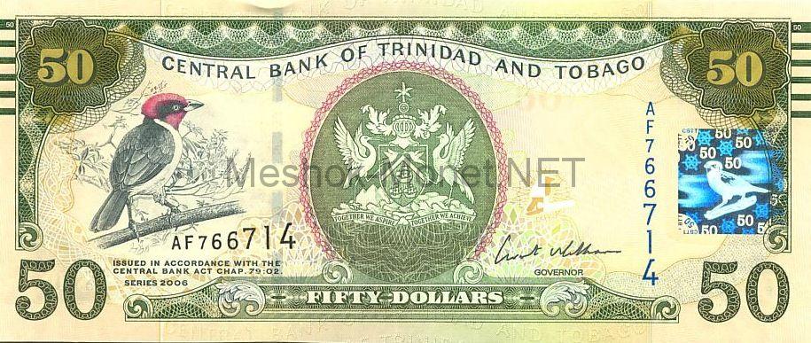 Банкнота Тринидад и Тобаго 50 долларов 2006 год