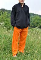 оранжевые мужские штаны из органического хлопка