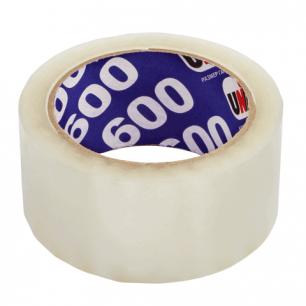 Клейкая лента 48ммх66м упаковочная UNIBOB 600 прозрачная, 45 мкм