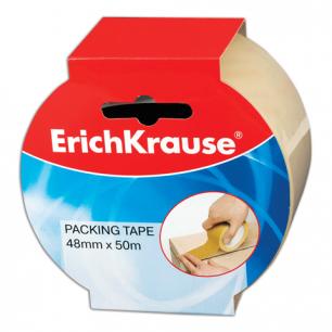 Клейкая лента 48мм х 50м упаковочная ERICH KRAUSE прозрачная, 45мкм, 25031