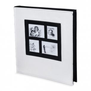 Фотоальбом BRAUBERG на 500 фото 10*15 см, обложка под кожу рептилии, белый, рамка для фото, 390713