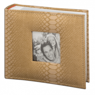 Фотоальбом BRAUBERG на 100 фото 10*15 см, индивид. бокс, обл. под кожу рептилии, рамка д/фото, 390694