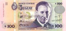 Банкнота Уругвай 100 песо 2011 год