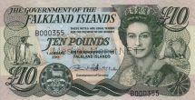 Банкнота Фолклендские Острова 10 фунтов 2011 г