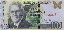 Банкнота Ямайка 1000 долларов 2003-08г
